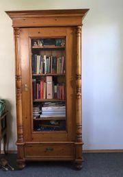 Antiker Bücherschrank Vitrine Wichholz