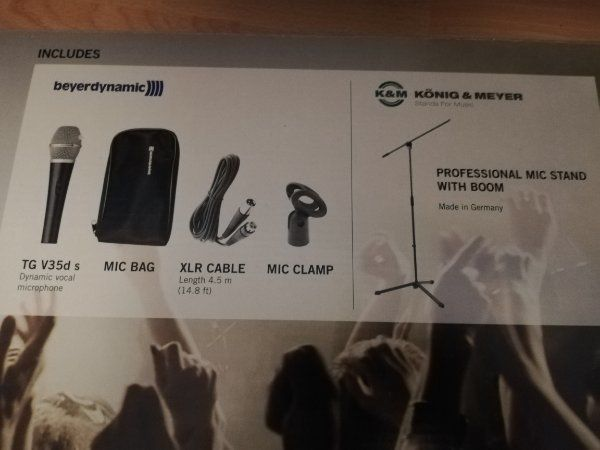 Unbenutztes Beyerdynamic Mikrofonset mit Mikrofonständer