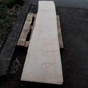 Eschenholz Bohle 2600x500x80mm für Tisch