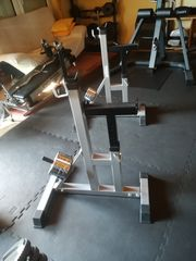Hantelbank Langhantel-Ablageständer Gewichtsscheiben