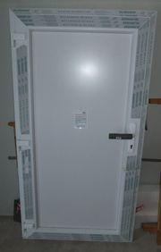 Neue Nebeneingangstür Kunststoff weiß 100