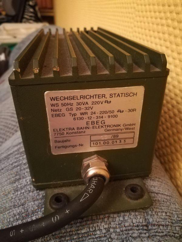 Spannungswandler Wechselrichter 24V 220V gebraucht