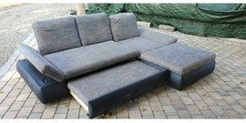 Polster, Sessel, Couch - Couch mit Bettkasten und Schlaffunktion
