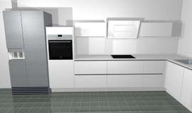 Küchenzeilen, Anbauküchen - MODERNE HOCHWERTIGE KÜCHE GRIFFLOS WEIß