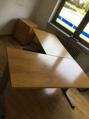 2 Schreibtische Schreibtisch Holz mit
