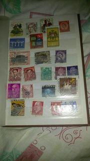 Briefmarkenalbum inklusive Briefmarken