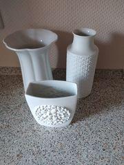 9 Diverse Vasen Gläse Schale