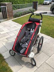 Chariot CX mit Fahrrad-Deichsel Buggy-Set