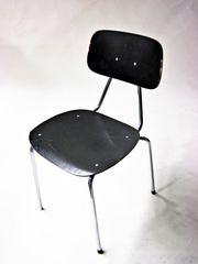 Stühle Sitz Lehnfläche Holz schwarz