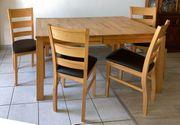 Esstisch massiv mit 4 Stühlen