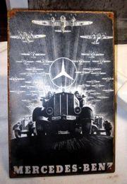 Altes Emailleschild Kriegszeit Mercedes Benz