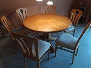 Esstisch mit sechs Stühlen Holz