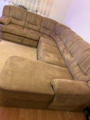 Wohnlandschaft Couch Sofa braun