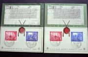 Briefmarken DP 1947 2 Karten