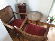 2 Chippendale Stühle und Tisch