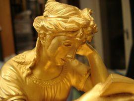 Pendule Empire Bronze feuervergoldet: Kleinanzeigen aus Zwickau Gemeinde Lichtentanne - Rubrik Uhren
