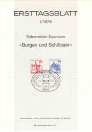 Ersttagsblätter 1979-1981 BRD Bundesrepublik Deutschland