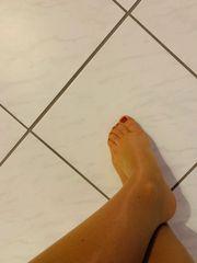 Getragene Socken und Strumpfhosen