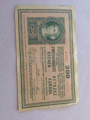 200 Kronen Banknote 1918 zu