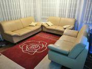 echtes Leder Sofa Garnitur Sitzgarnitur