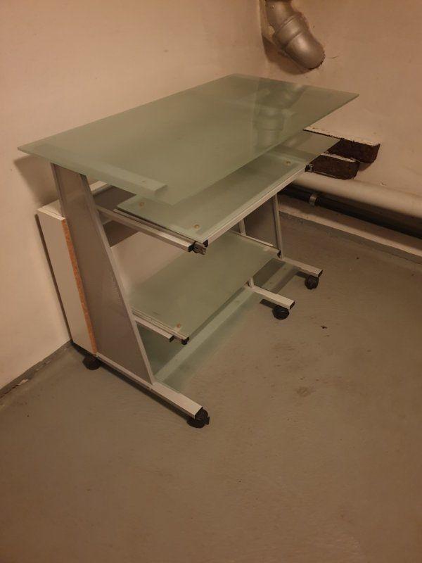 Schreibtisch m Rollräder Bürotisch PC