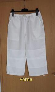 Hose 7 8 lang weiß