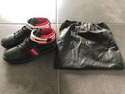 Gucci Ace High-Top-Herren-Sneaker mit Gucci-Streifen
