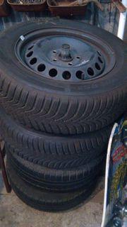top Reifen auf Stahlfelgen VW