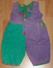 Lila-grüne Träger-Hose - Größe 68 - Latz-Hose - Overall