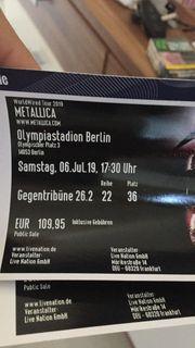 Metallica Karte Berlin 06 07