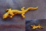 Brosche Salamander Silber