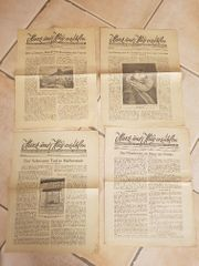 Antike Zeitungen um 1930