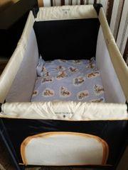Reisebett mit Matratze Kissen Zudecke