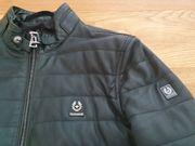 Original BELSTAFF Lederjacke schwarz gesteppt