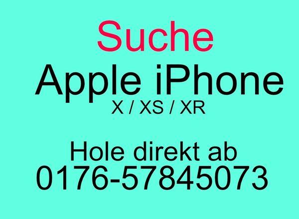 SUCHE ein Apple iPhone XS XR