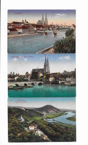 Postkarten u Feld PK Regensburg