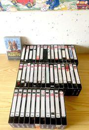 VHS Videorecorder und 42 VHS