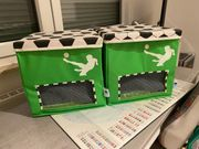 2 x Fußball Box neuwertig
