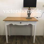 Weisser Schreibtisch kleiner Sekretär Tischplatte