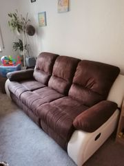 Sofa 3 Sitzer mit Relaxfunktion