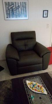 Sessel XL Kunstleder Lounge Wohnzimmer