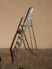Große Stehleiter 5 Stufen Alu