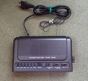 Radiowecker schwarz mit 2 Weckzeiten