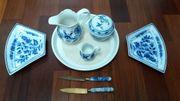 Meissener Porzellan Geschirr antik Konvolut