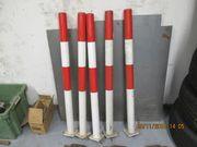 Absperrpfosten Rot-Weiss Stahl herausnehmbar mit