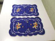 Osterdeko zwei Deckchen Sets Stickerei