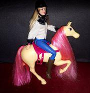 Reiter Barbie mit Pferd Sattel