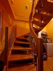 Treppe Halbgewendelte Buche Massivholztreppe