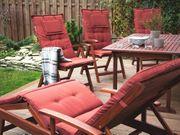 Gartenstuhl Holz mit Auflage terracotta