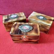 3 kleine Deko Schachteln Kisten